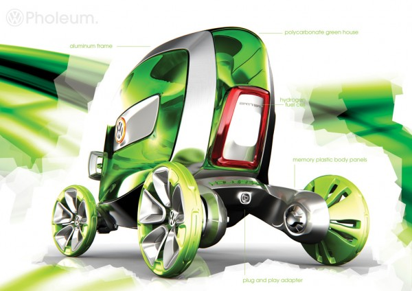VW Pholeum – Electric Vehicle Able to Turn 360 Degrees